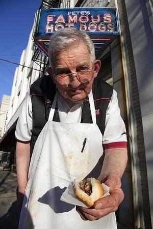Eat Less – Remember More - photo of hot dog vendor
