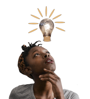 Improve your study skills with mnemonics for financial planning exams - photo of woman having an idea