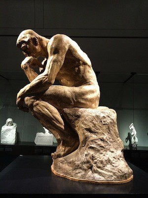 """Think your way to better grades - photo of """"The Thinker"""" scupture"""