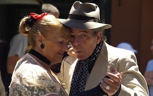 Exercise will improve your memory - photo fo elderly couple dancing