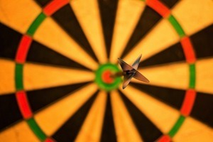 Practice makes perfect - how to get better grades - photo of dart board