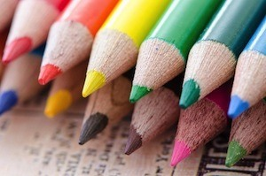 What sort of revision notes should you make - photo of coloured pencils