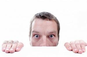 How to combat exam nerves - photo of man panicking