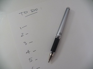 Keep tabs on your progress and you'll remember more - photo of 'to do' list