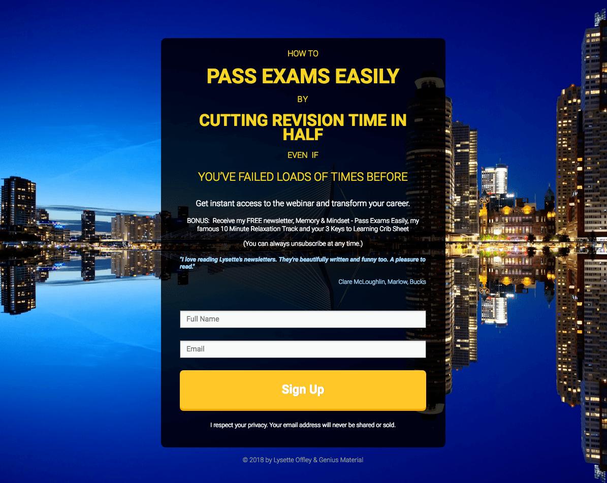 Pass exams easily webinar