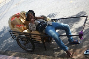 Stressed over R01 exam - photo of man napping