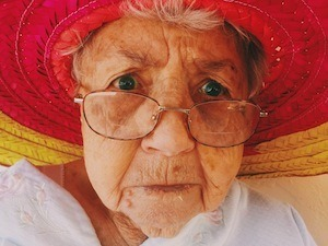 Get the picture? - photo of pensioner in glasses