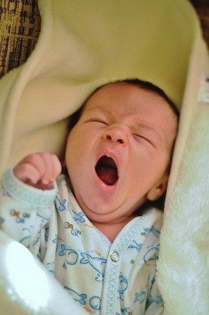 Don't do this when studying for Financial Services Exams - photo of baby yawning