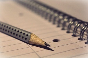 Biggest revision mistakes - Using lined paper - photo of lined notebook
