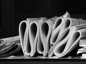 Biggest revision mistakes – Save the environment. Photo of folded paperwork