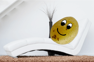 Biggest revision mistakes: Couch potato! = photo of a potato on a couch