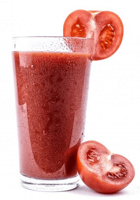 Does eating less make you brainier - photo of tomato juice