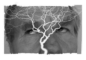 Epilepsy's Big Fat Answer - What? No drugs? Image of lightening through brain