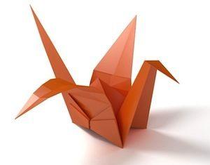 Bruce Forsyth's Generation Game - photo of origami stork