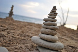 Meditation for longer life - photo of stacked stones
