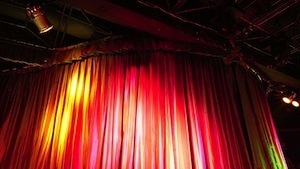 Do what I mean, not what I say - photo of theatre curtains