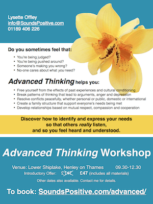 Advanced Thinking Workshop - photo of poster