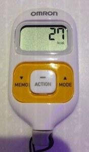 Using a pedometer. Photo of pedometer