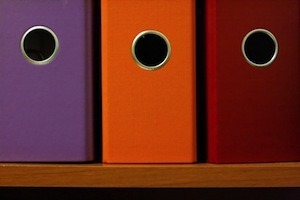 How organised and methodical are you. Photo of ring binders