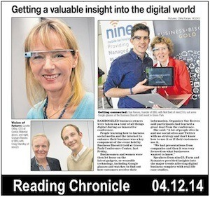 Google Glasses for X-Ray Vision. Photo of newspaper article
