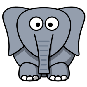 Keep calm and carry on revising - image of cartoon elephant