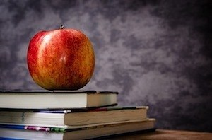 Making your notes memorable Photo of apple and books