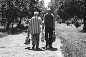 Memory loss. Photo of elderly couple