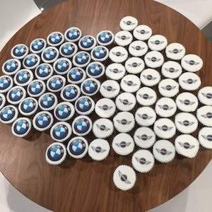 Cooper Reading BMW - photo of branded cup cakes
