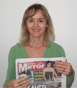 Phot of Lysette Offley in the Daily Mirror 17.01.12