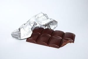 Improve your working memory. Photo of chocolate