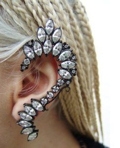 Photo of Elf gothic punk earrings