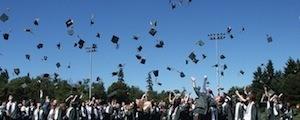 Lining up the ducks. Photo of graduation