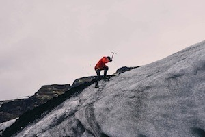 Lining up the ducks. Photo of mountain climber