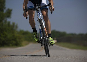 Music, your brain and exercise - photo of cyclist