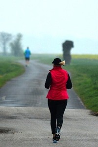 Music to your ears? Photo of woman jogging