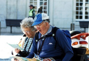 Speaking a second language - photo of tourists