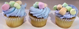 Stanford marshmallow experiments - photo of marshmallow cup cakes