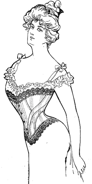 The wise man built his house upon the rock - drawing of corset