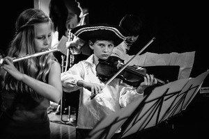 Keeping going keeps you going. Photo of school orchestra