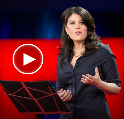"""Video of Monica Lewinsky's TED Talk on """"The price of shame"""""""