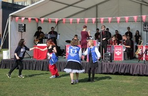 Reading University's world record attempt - photo of girls dancing