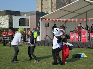 Reading University's world record attempt - photo of students dancing