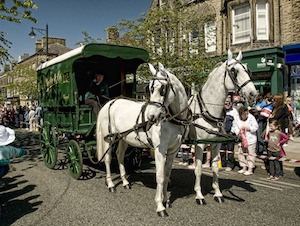 Love and marriage, love and marriage, go together like...: Photo of horses and cart