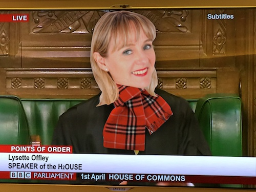 Order! Got a new job! Photo of Lysette Offley - Speaker of the house