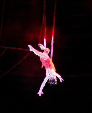 Spaced out! - photo of trapeze artist
