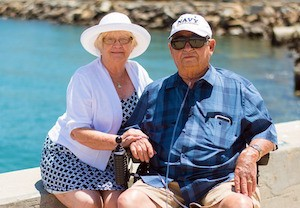 Positive psychology? Are you sure? Photo of grandparents on holiday