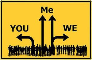 What does watching a reality show say about you? Image of road sign to you, me or we
