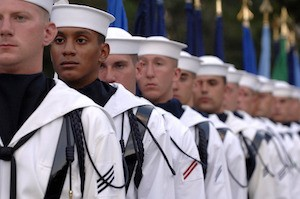 We all stand together - photo of sailors wearing uniform