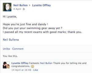 Neil Bullen passed all his exams with good marks