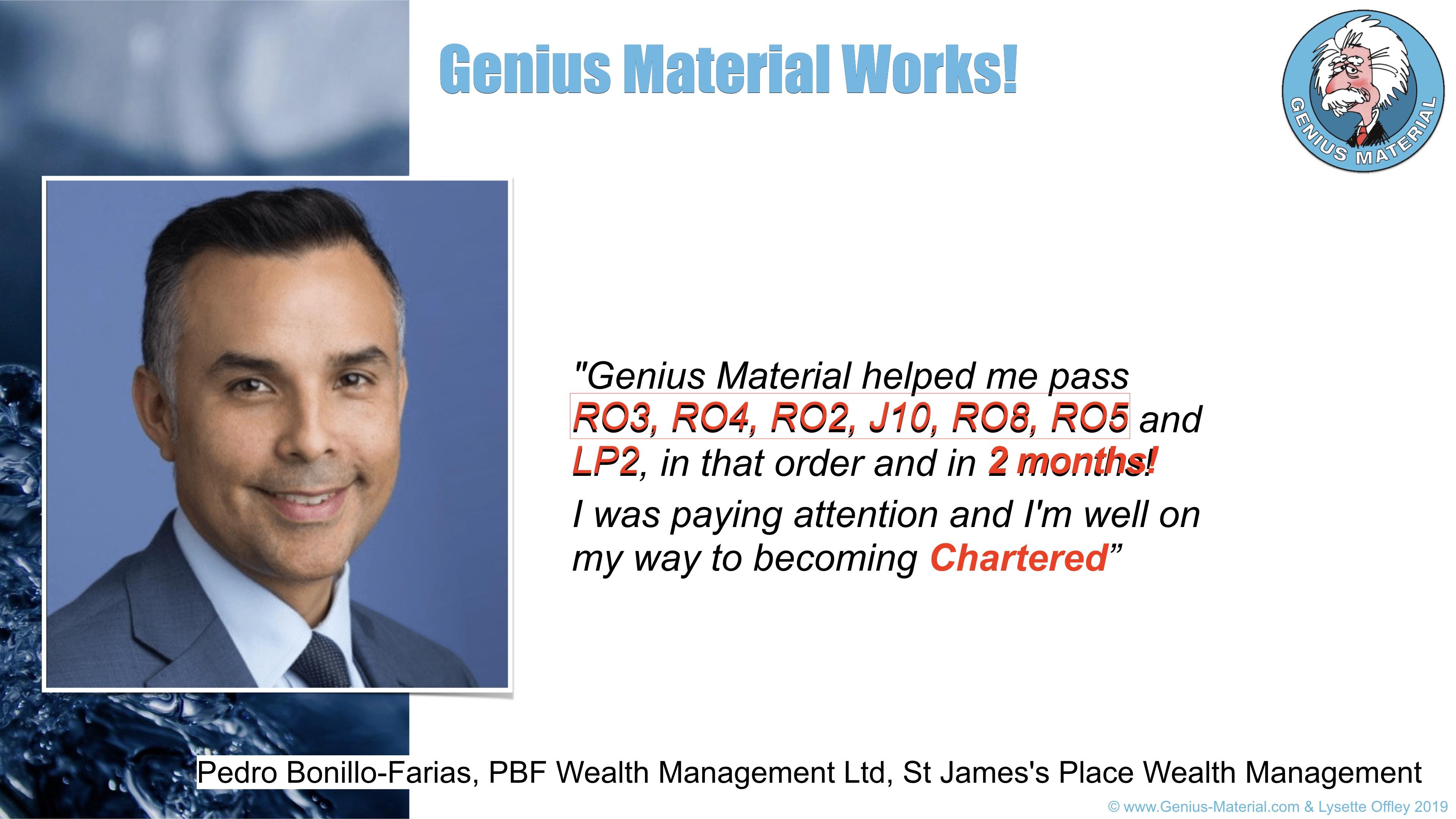 pass Diploma and Chartered Financial exams - success